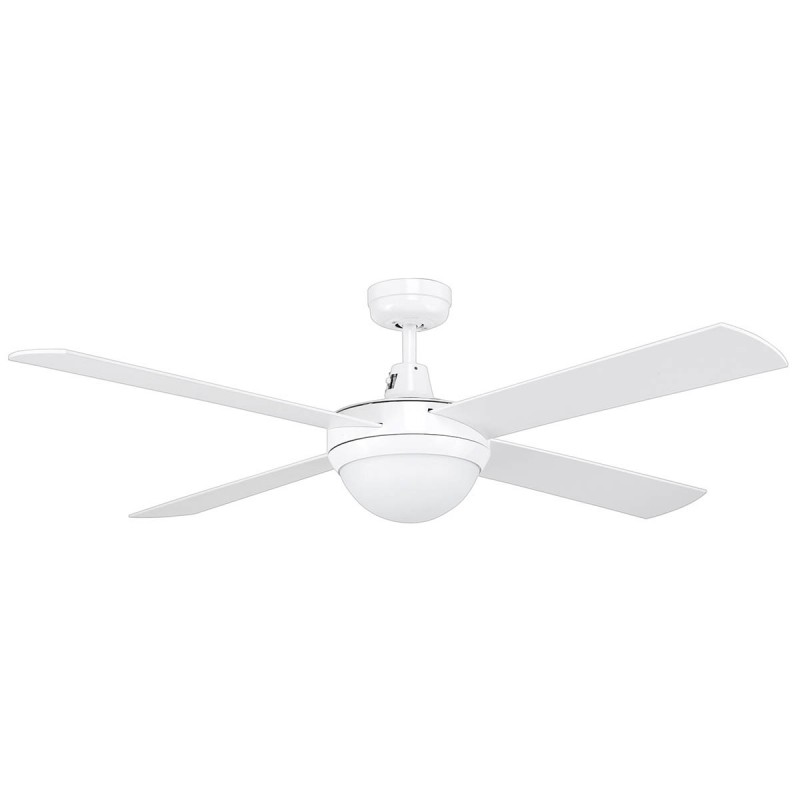 Mercator 130cm White Tempest 4 Blade Grange Ceiling Fan With Light
